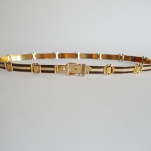 Vintage 70's GUCCI Enamel and Gold Tone Belt